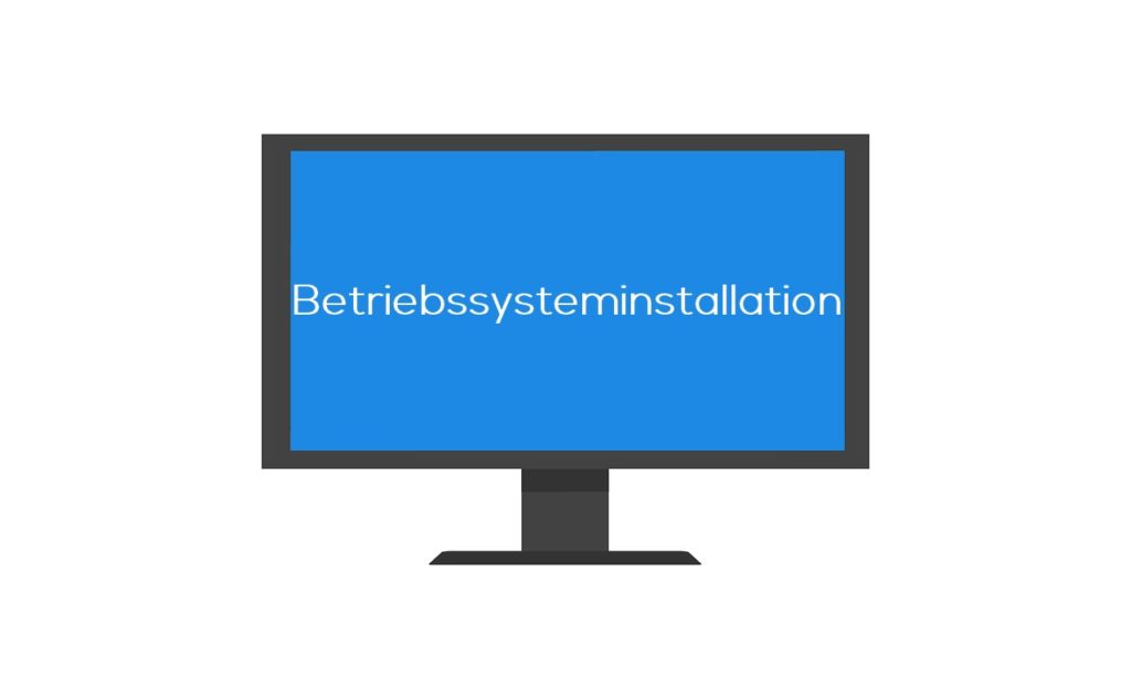 Betriebssysteminstallation Windows, Linux, Ubuntu auf PC / Laptop Daun und Umgebung.